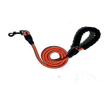 Huisdier reflecterende tractie touw ronde touw nylon hond anti-verloren riem (oranje)