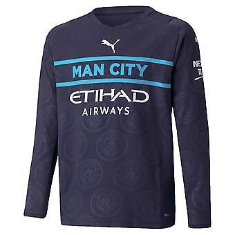 2021-2022 Man City с длинным рукавом 3-я рубашка (дети)