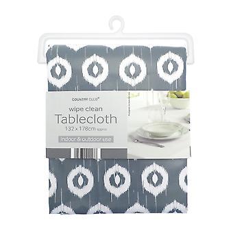 Country Club PVC Tablecloth, Ikat Grey