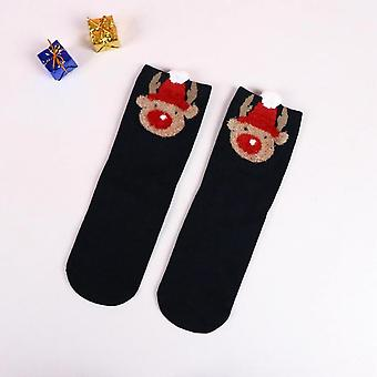 10pcs Chaussettes pour dames Casual Winter Christmas Socks Cartoon Warm Cute Christmas Gifts