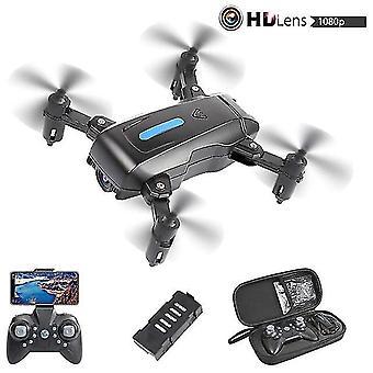 Opvouwbare mini drone met 4k hd fpv camera voor kinderen volwassenen wifi rc quadcopter vliegtijd 40 minuten