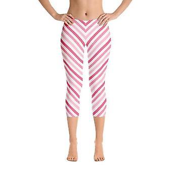 Flattering Butt Lifting, Diagonal Lines, Pink Capris