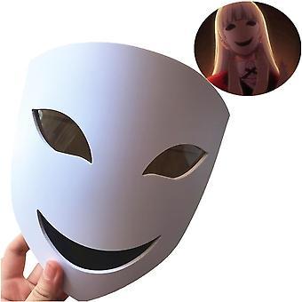 Anime kakegurui momobami ririka mask cosplay voksen pvc masker rekvisitter halloween
