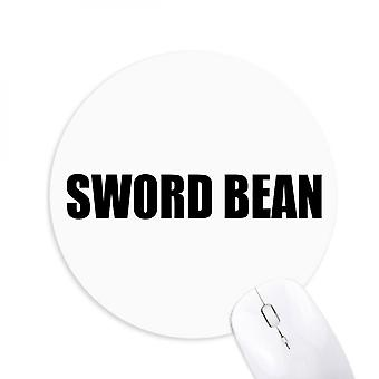 Bean Vegetable Name Foods Round Non-slip Rubber Mousepad Game Office Mouse Pad