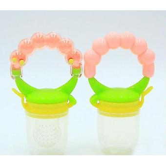 Modern non toxic toddler pacifier feeder and nibbler(Pink M)
