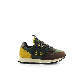 Sun68 Boy's Tom Goes Camping Military Green Sneaker