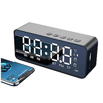 Trådlös Bluetooth-högtalare Liten Mini väckarklocka