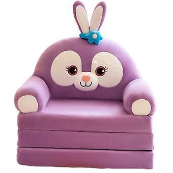 Sohva söpö sarjakuva laiska taittuva pieni vuodesohva tyttö istuin