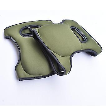 Garden Labor Protection Knee Pads, Thickened Moisture-proof Knee Pads (dark Green)