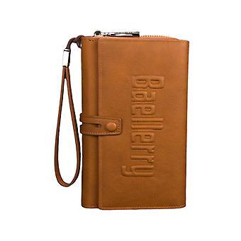 Long Leather Wallets For Men Card Holder Mobile Phone Clutch Handbag