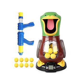 Hit Me Duck Родитель-ребенок Интерактивный пистолет-пистолет с воздушным двигателем Мягкий пулевый пистолет
