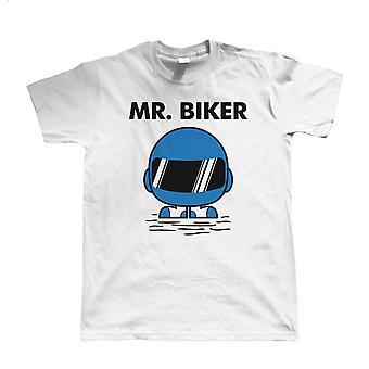 Mr Biker Mens Funny Biker T Shirt - Superbike Gift for Him Dad