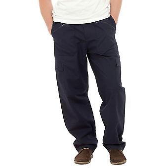 Hombres Tom Franks largo liso Polycotton carga al aire libre acción pantalones