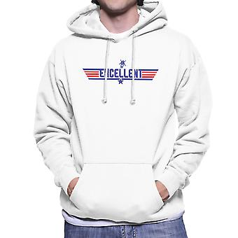 Top Gun Logo Bill And Teds Excellent Adventure Men's Hooded Sweatshirt