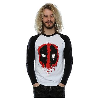 Deadpool Splat visage Baseball à manches longues chemise masculine Marvel