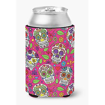 Carolines Treasures  BB5115CC Day of the Dead Pink Can or Bottle Hugger