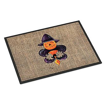 Halloween pompoen Bat Fleur de lis Indoor of Outdoor 18 x 27 Mat deurmat