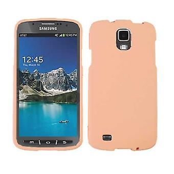 Unlimited Cellular Snap-On Protector Case for Samsung I9252 Galaxy S4 Active/i537 - Fluorescent Light Brown