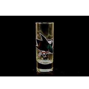 """San Jose Sharks NHL """"Hype"""" Tall Shot Glass"""