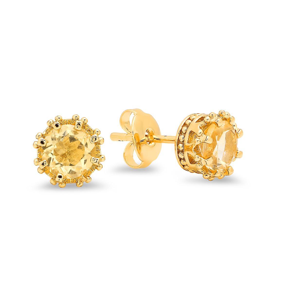 Ladies 18K Gold Plated Stud Earrings