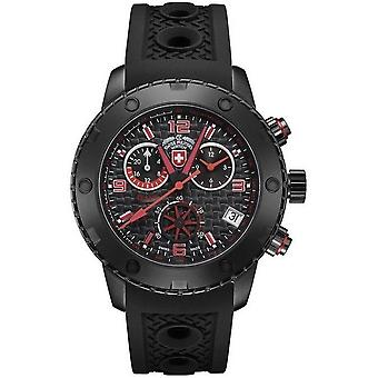 Swiss military mens watch rally GMT Nero chronograph 2751