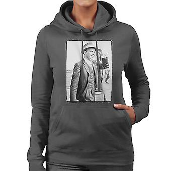 Frank Sinatra Heathrow Airport 1961 Vintage Photo vrouwen Hooded Sweatshirt