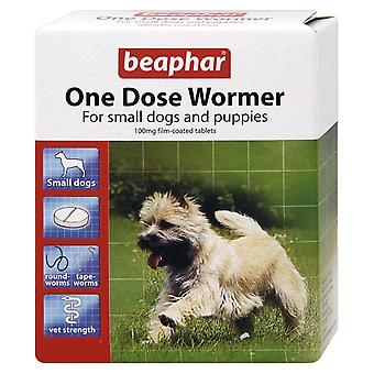 BEAPHAR ONE DOSE WORMER FOR SMALL DOGS 3 TABLETS