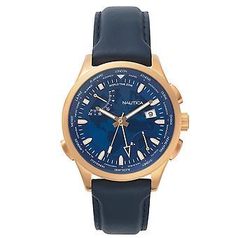 Nautica mens watch NAPSHG002 reloj de pulsera cuero