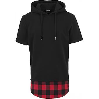 Urban classics Hoodie Peached flannel of bottom sleeveless