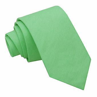 Mint Green Chambray Cotton Slim Tie