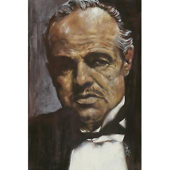 Don Corleone Poster Poster Print by Stephen Fishwick