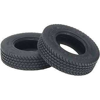 Carson Modellsport 1:14 HGV, Lkw Sattelanhänger Reifen 19 mm Road Tread 1 Paar