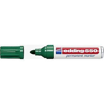 Edding edding 550 4-550004 Permanent marker Green waterproof: Yes