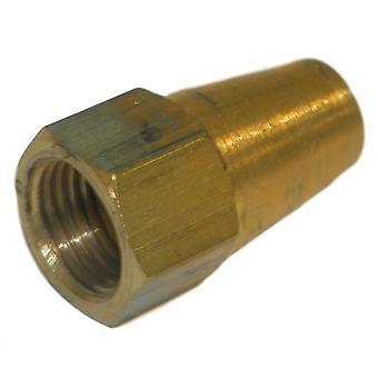 Big A Service Line 3-14150 Brass Long Nut 5/16
