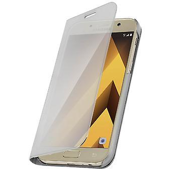 Flip Case, Mirror Case voor de Samsung Galaxy A5 2017, permanent Cover - zilver