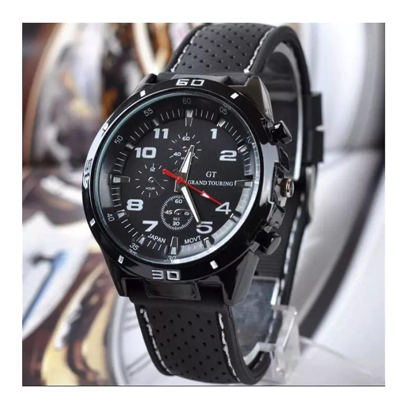 Men Analog Sports GT Watch Black/White