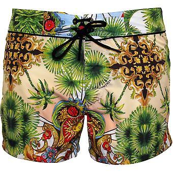 Versace Miami Print Luxe Swim Shorts, Multicolour