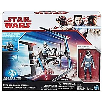 Star Wars Force Canto Bight politiet Speeder og Canto Bight politiet figur