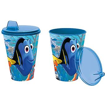 Disney Nemo y Dory vaso con tapa y pico