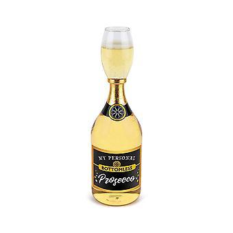 BigMouth mijn persoonlijke bodemloze Cheers Prosecco fles wijn nieuwigheid glas cadeau