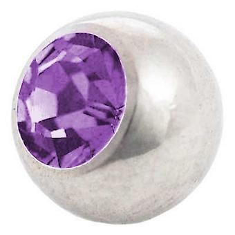 Piercing vervanging bal, Tanzanite Stone | 1,2 x 3 en 4 mm, lichaam sieraden