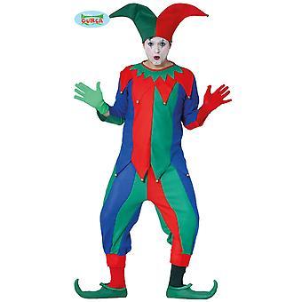Costume de fou pour les hommes Carnaval Carnaval exposer de clown bouffon médiéval