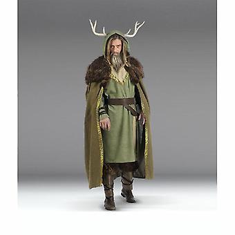 Druïde Broll Bearmantle van gehoornde Wizard elf druid tovenaar kostuum voor heer