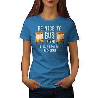 Bus Driver Funy Women Royal BlueT-shirt   Wellcoda