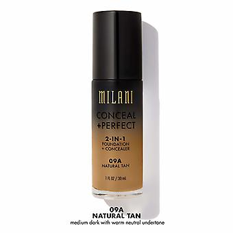 Milani verbergen + perfect Liquid Foundation-09A natuurlijke Tan