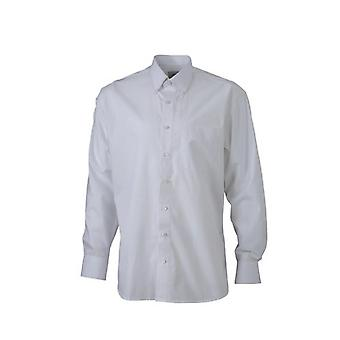 James and Nicholson Mens bouton manches longues chemise