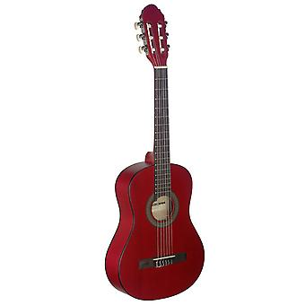 Stagg 3/4 Beginners Classical Guitar - Red Finish