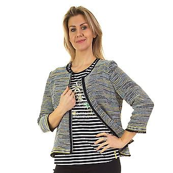 RABE Jacket 42 123231 Blue And Yellow