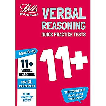 Letts 11+ Success - 11+ Verbal Reasoning Quick Practice Tests Age 9-10 for the GL Assessment tests