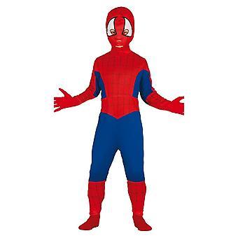 Boys Spider Superhero Fancy Dress Costume